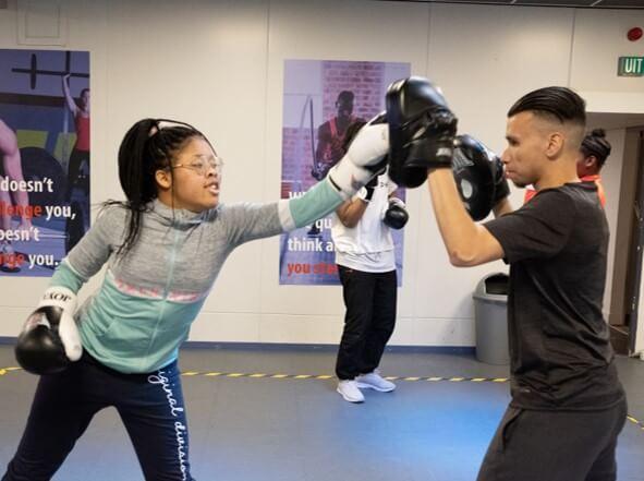jdk activiteit kickbox meiden